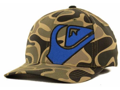 NEW Quiksilver Haydis Men/'s Camo Flexfit Hat Cap