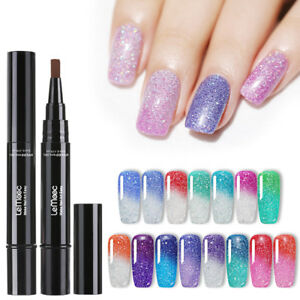LEMOOC-5ml-Nail-Gel-Pen-Holographic-Thermal-Color-Changing-Gel-Polish
