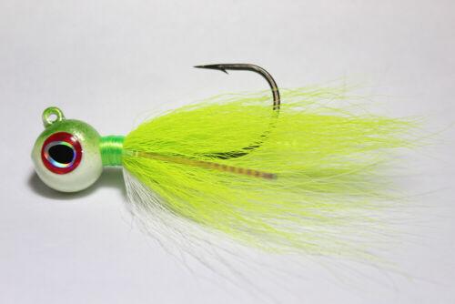 1 s/&s Big Eye Bucktail Jig 1 1//2 oz Chartreuse Pearl-Discounts-LIVRAISON GRATUITE
