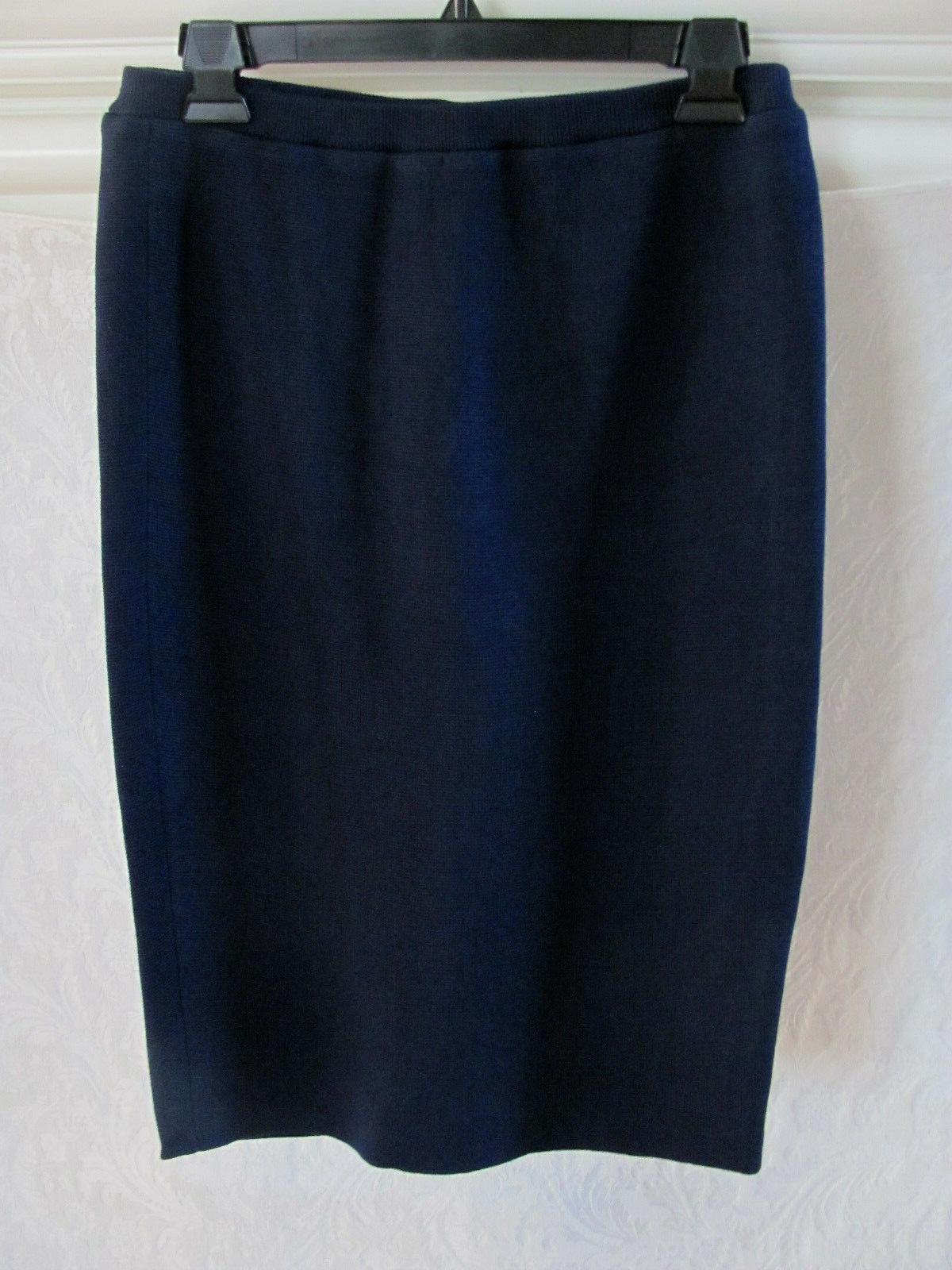Eileen Fisher Pencil Knee Length Skirt- Silk Cotton -Midnight-Size XXS-NWT  218