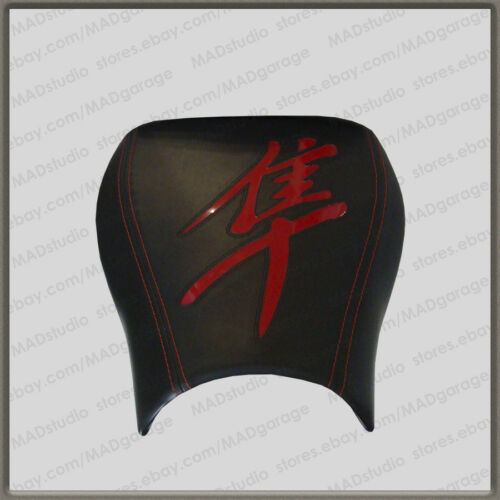 First Gen Custom Black+Red-Gloss Front Seat Cover Suzuki Hayabusa 99-07