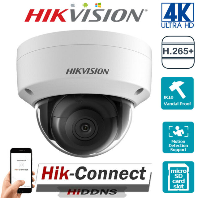 Hikvision 8mp IP Poe CCTV Dome Camera 4k 2 8mm Outdoor 30m IR UK  Ds-2cd2185fwd-i