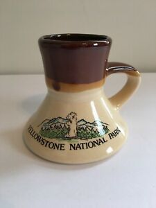 Vintage Wyoming Yellowstone Natl Park Coffee Tea Mug Cup Western Travel Decor