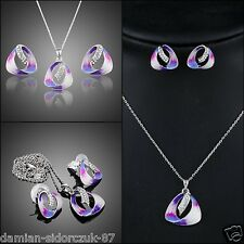 Damen Schmuck Set Swarovski Element HalsKette Ohrschmuck Original Design 305
