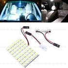 5050 T10 LED White Car Interior Light 48 SMD Lamp Panel Festoon Dome BA9S 12V 5W