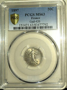 France-50-Centimes-Semeuse-1897-PCGS-MS63