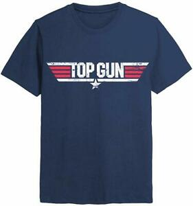 Top-Gun-Distressed-Logo-Official-Mens-T-Shirt