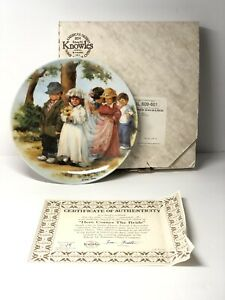 Here-Comes-The-Bride-Kids-Wedding-Knowles-Collector-Plate-With-Certificate