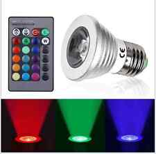 Magic Lighting LED Light Bulb E27 Remote With 16 Different Colors RGB 3W 12V