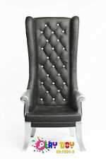 1/6, 1:6 PLAY TOY ACTION FIGURE ACCESSORIES HIGH WING CHAIR FT-004B BLACK