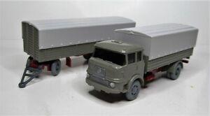 Wiking-1-87-Krupp-LF-806-Pritschenlastzug-Sonderfarbe-graubeige-PMS-WVM