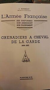 L-039-ARMEE-FRANCAISE-DE-L-ROUSSELOT-PLANCHE-N-23-GRENADIERS-A-CHEVAL-DE-LA-GARDE