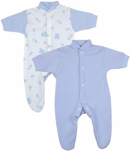 Babyprem Micro Nouveaux-nés vêtements Bébé 2 Pack One-pièces traverses pyjama 1-7 lb environ 3.18 kg