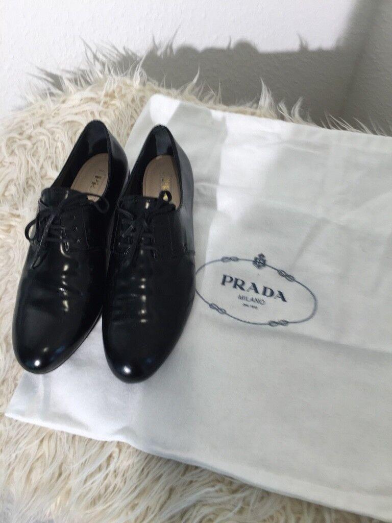 Prada Oxford NP 490,- euros talla 36 36 36 negro nuevo lujo cómomujerte  100% a estrenar con calidad original.