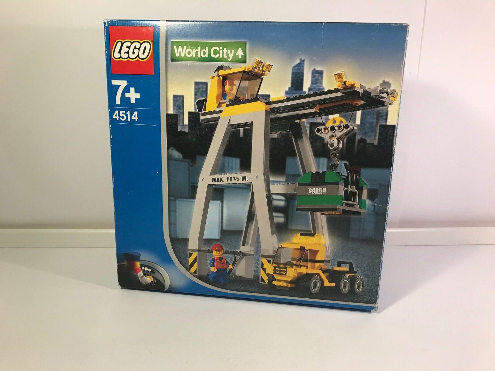 LEGO ® World City 4514 9V Eisenbahn Verkadekran Kran NEU & OVP MISB NEW