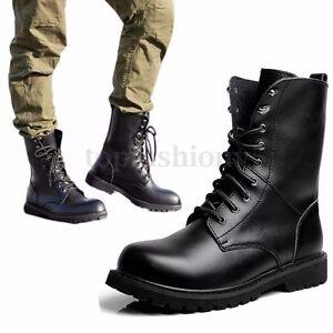 qualità affidabile scarpe esclusive sentirsi a proprio agio Dettagli su Uomo Scarpe Anfibi Stivali Stivaletti Combattere Militare  Escursionismo