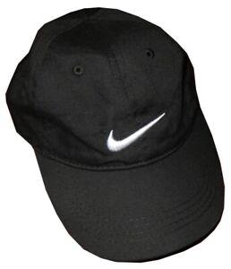 KIDS-BOYS-BLACK-NIKE-SWOOSH-BASEBALL-CAP-W-ADJUSTMENT-SIZE-4-7