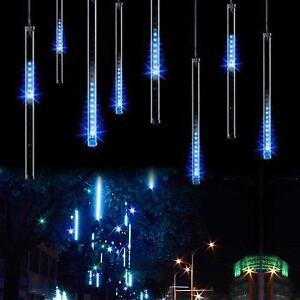 omgai led meteor shower rain lights drop icicle snow falling rh ebay com