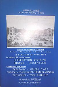 1970 Catalogue Di Vendita Illustrato Versailles Lavagna, Arte Terracotta Tappeto