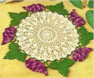 Grape-Doily-Vintage-Crochet-PATTERN-NOT-FINISHED-ITEM