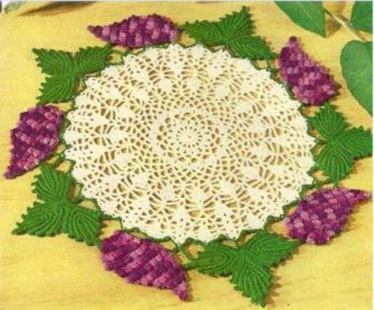 Grape Doily Vintage Crochet PATTERN(NOT FINISHED ITEM)