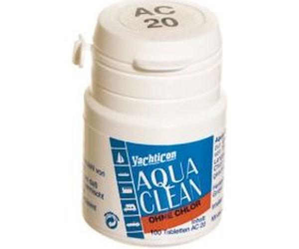 Desinfectant Aqua Clean - 100 pastilles   2000l d'eau potable - sans chlore