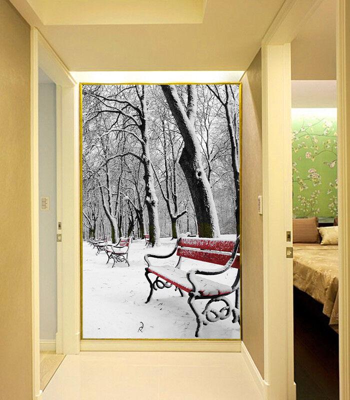 3D Park Schnee Stuhl 85 Tapete Wandgemälde Tapete Tapeten Bild Familie DE Summer