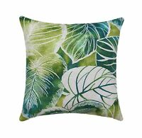 Leaf Pillow, Richloom Key Cove Lagoon Tropical Leaves Outdoor Throw Pillow