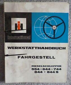 IHC Werkstatthandbuch Fahrgestell für Traktor 644
