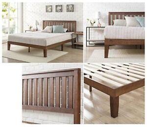 Buy Modern King Size Solid Wood Platform Bed Frame Set W Headboard