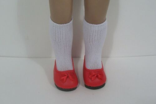 "Debs RED Princess Flats Doll Shoes Fit 10/"" Ann Estelle Sophie Patsy"