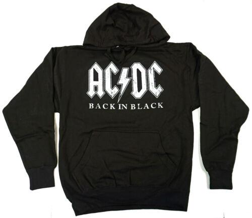 Dévasté Hommes Capuche Sweat Noir avec Dos le à Logo AcDc en dans Adulte à Capuche Chandail UzSqGMjLVp