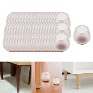 60-Pieces-Clair-Chaise-Jambe-Protecteurs-De-Sol-Meubles-Tampons-Jambe-Ronde