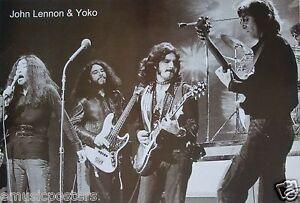 Rare 12 X 18 Concert Photo Poster John Lennon The Beatles Ed Sullivan Show 1964