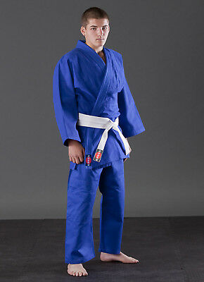 Heavy duty double Weave 900 gram White and Blue Gi KANKU Judo Uniform Uniform