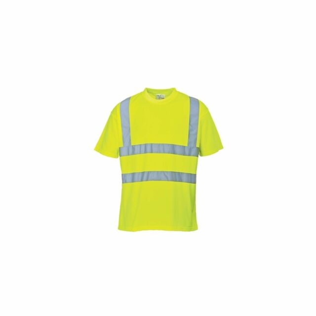 Genuine Portwest Medium (M) EN471 Yellow Hi Vis High Visibility T-Shirt