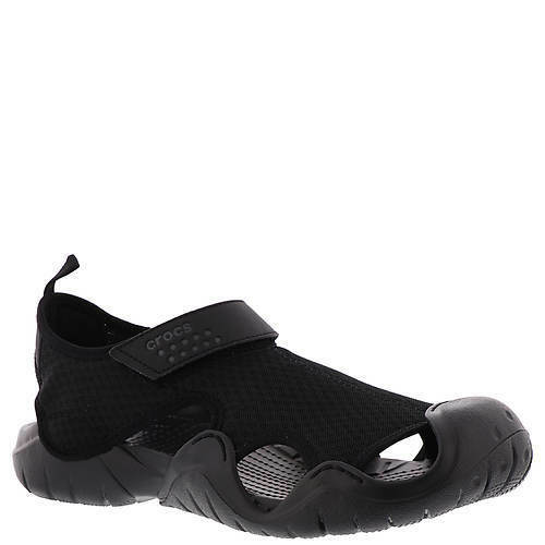 23a2e3899 Crocs 15041 Swiftwater Water Sandals Mens Black-060 8 for sale online