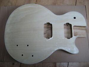 LP-Body-Gitarrenkorpus-Blauglockenbaum-Massiv-gewoelbte-Decke-Echtholzfurnier