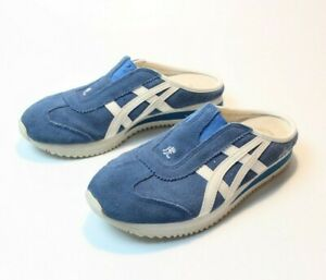 huge selection of 7a96e 4daaa Details about RARE VTG Onitsuka Tiger ASICS Slip On Mule Sneakers Kanji  Tiger Suede Women's 6