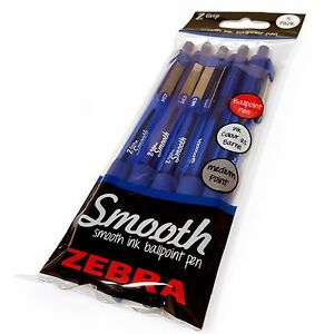 Z-Grip-Smooth-Retractable-Ballpoint-Pen-Pack-of-5-pens-Blue