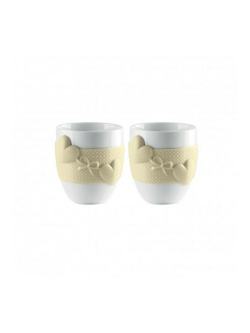 Set 2 Cups Coffee Guzzini Collection Love Clay 11490079