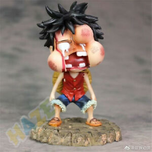 "One Piece Monkey D·Luffy Swollen Face Q Ver. 5"" PVC Action Figure Model Toy Gift"