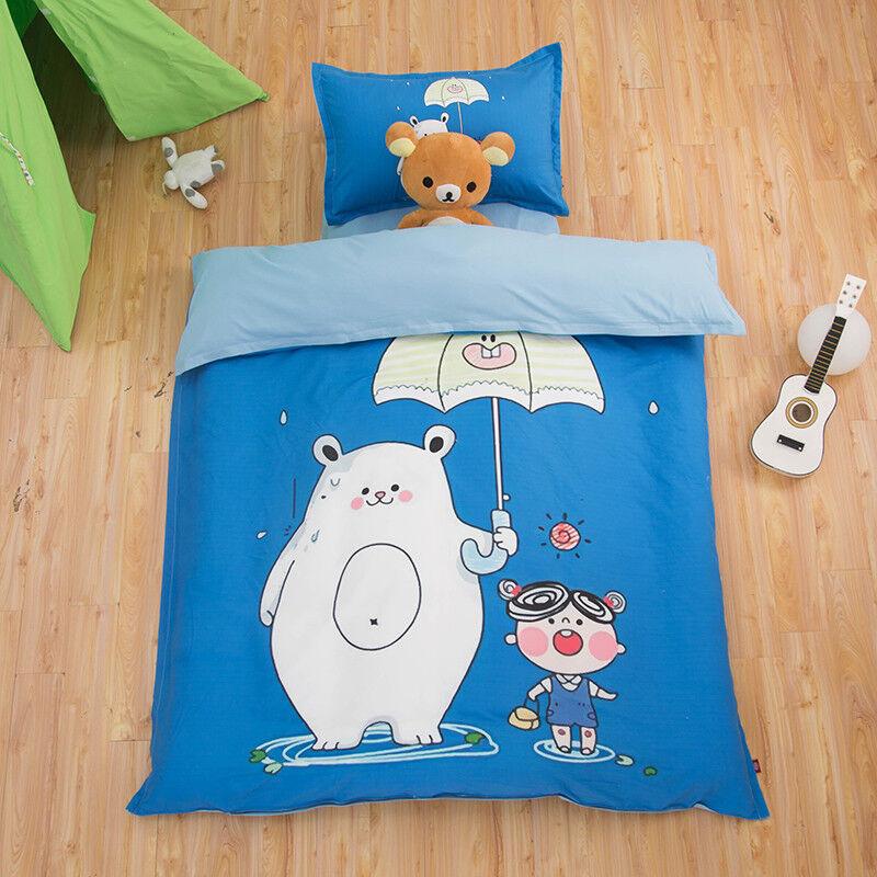 3D Catyoon Bear 806 Bed Pillowcases Quilt Duvet Cover Set Single Queen UK Kyra