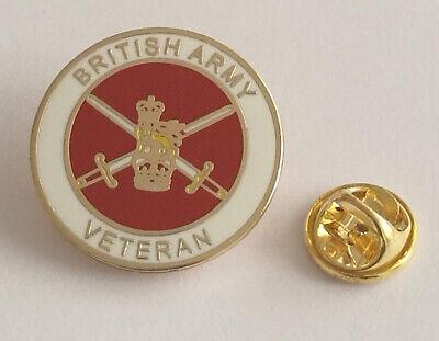 British Army Veteran round lapel pin badge