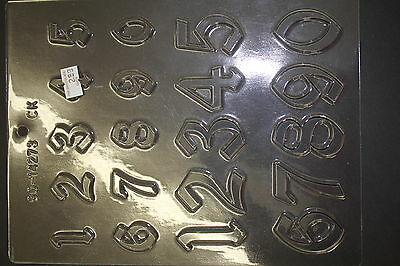 Number Mold Old English Chocolate Candy Mold