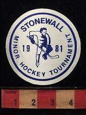 1981 STONEWALL Minor Hockey Tournament Canada THIN CHEAP Patch Canadian 65Z0