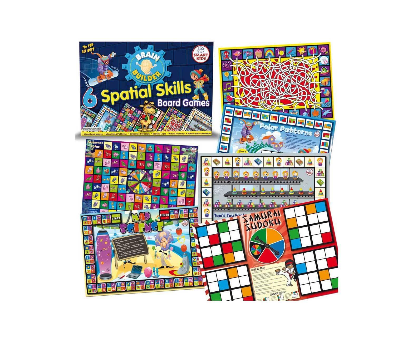 Smart Kids Six Spatial Skills Visual Memory Board Games - NEW