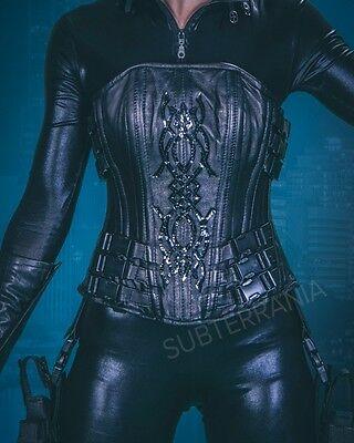 "Selene Underworld Real Leather Corset, 22"" Waist, Cosplay MCM LFCC"