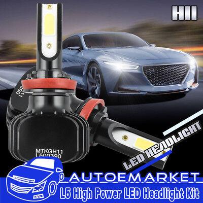 2Pcs White LED H11 Low Beam Headlight Bulbs For Volvo VNL VNM 630 670 730 780