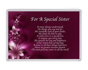 Personalised Special Sister Fridge Magnet Birthday Present Christmas ...